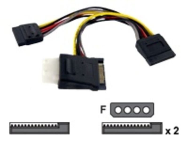 StarTech SATA to LP4 with 2x SATA Power Splitter Cable